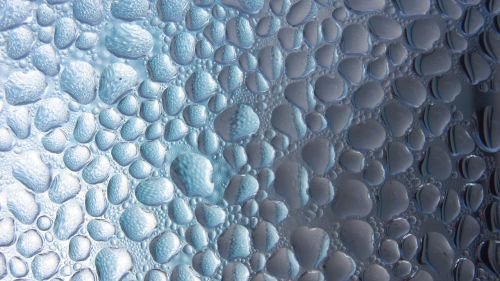 drop of water condensation pattern