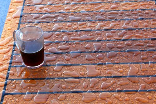 drops water cup