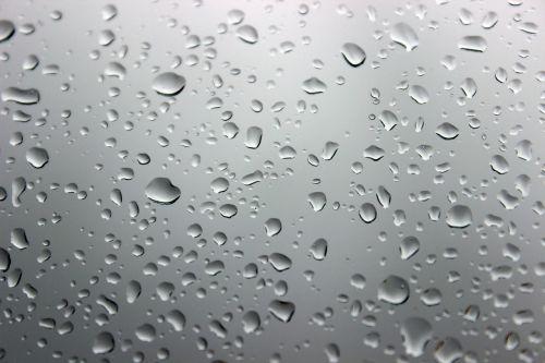drops pane rain