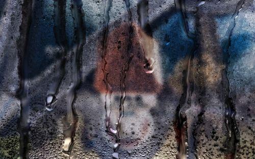 drops of water glass rain water