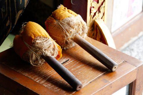 drum sticks bell
