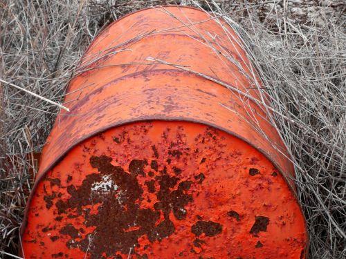 drum landfill waste