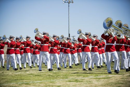 drum and bugle corps marines performance