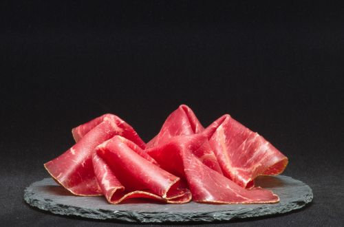 dry cured ham meat plate