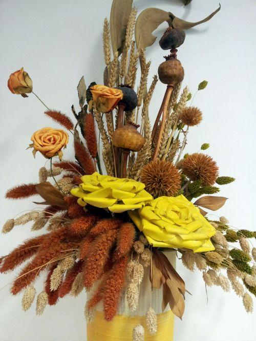 Dry Fake Flower Basket