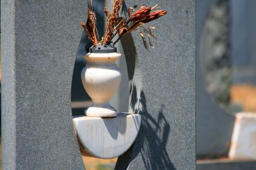 Dry Flowers On A Grave