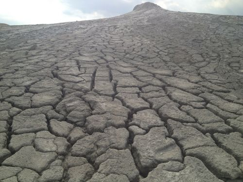 dry land muddy volcanes dry