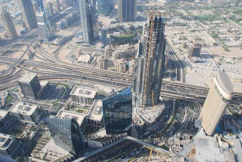 dubai aerial photographs skyscrapers