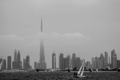 dubai seashore burj khalifa