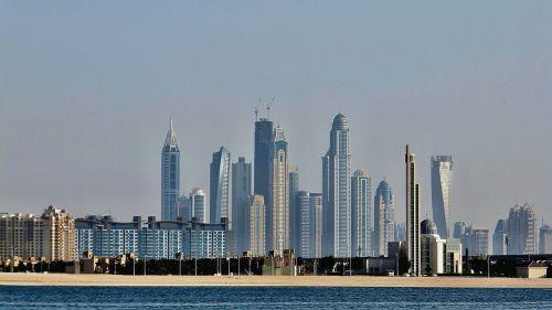 dubai panorama skyscrapers