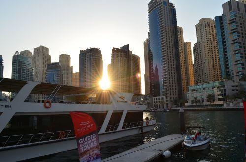 dubai marina sunset yachts