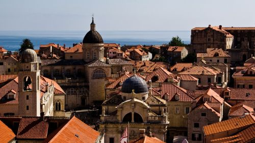 dubrovnik rooftops city