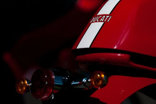 ducati details red
