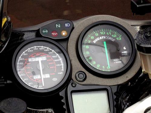 Ducati Motorcycle Speedometer