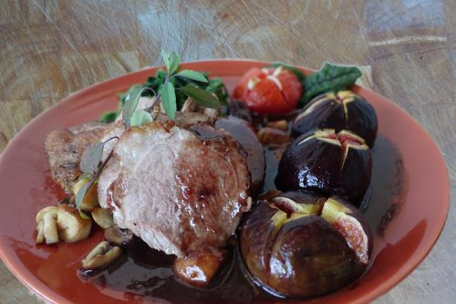 duck breast figs food