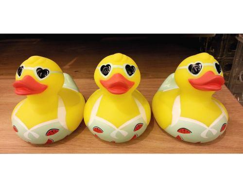 ducks plastic beaks hearts