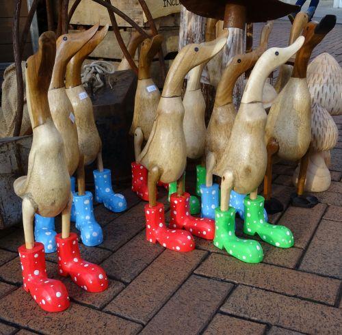 Ducks In Wellington Boots