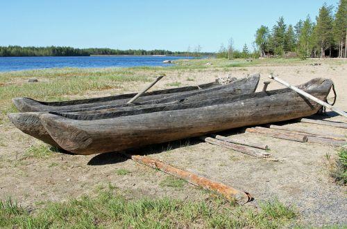 dugout boats finland landscape