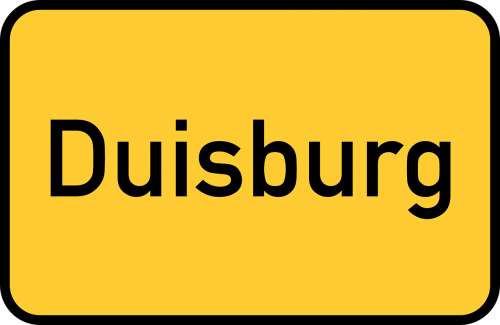 duisburg town sign city limits sign