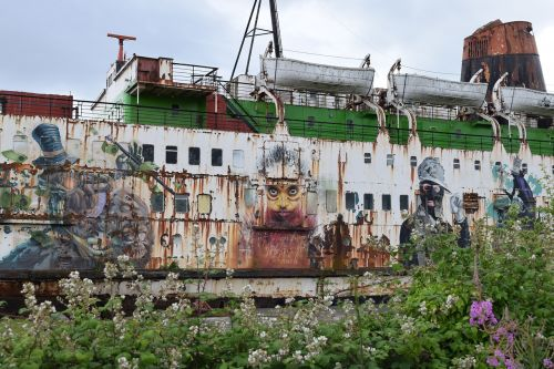 duke of lancaster graffiti abandoned