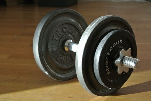dumbbell weight training