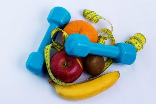 dumbbell fruit sport