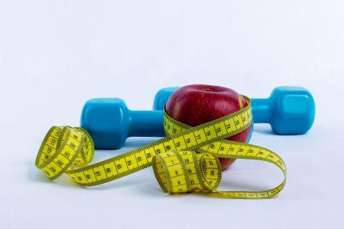 dumbbell apple centimeter