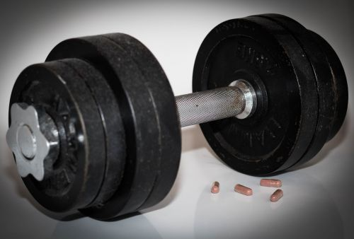 dumbbell weight lifting power sports