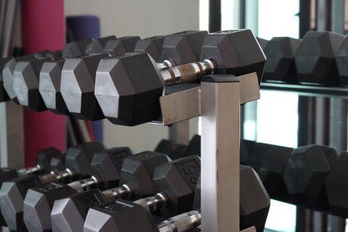 dumbbells fitness gym