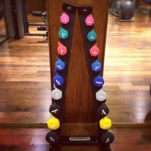 dumbbells weights rack