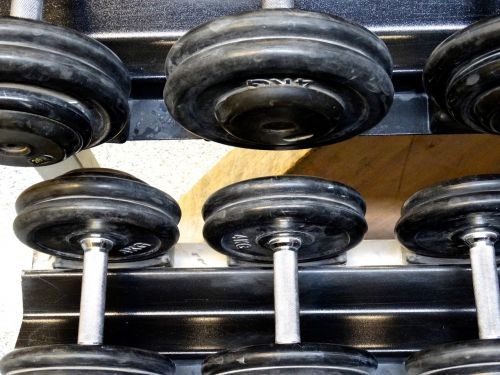 dumbbells weights fitness