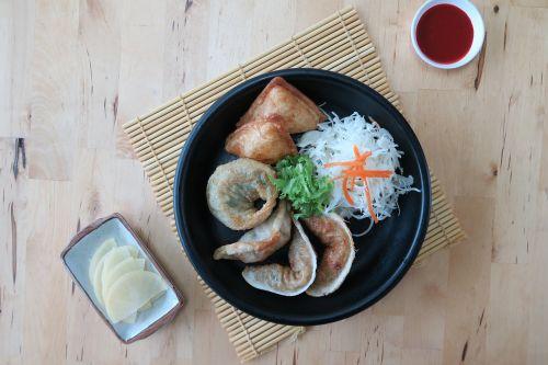dumplings fried food korean