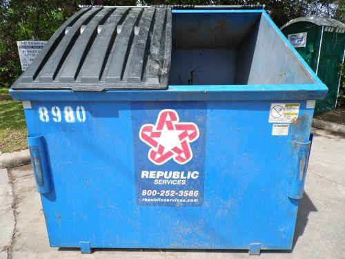 dumpster trash bin garbage