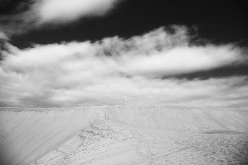 dunes desert black and white