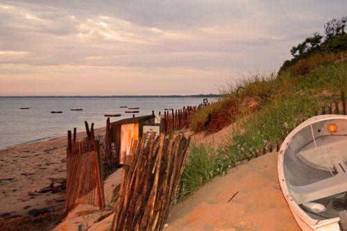dunes sand dunes sunset