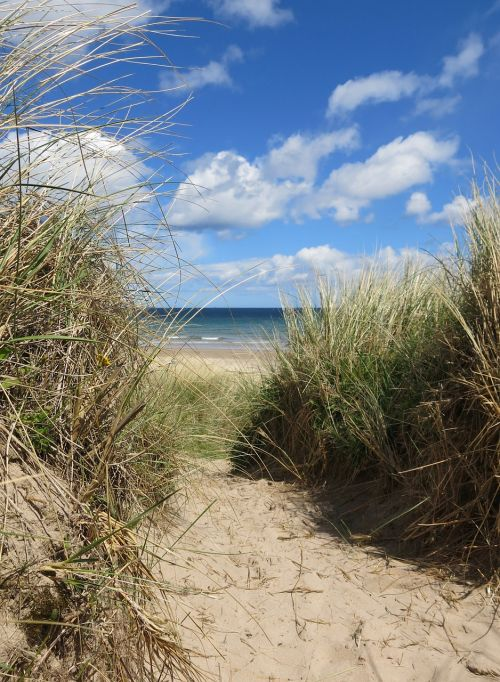 dunes northumberland sea