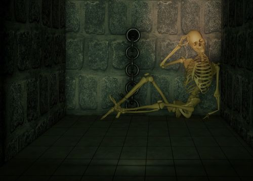 dungeon skeleton chains