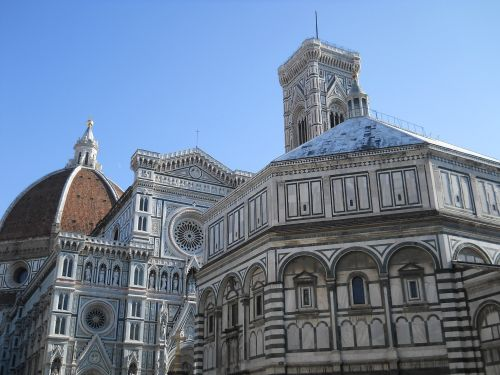 Cathedral And Baptistery Florence