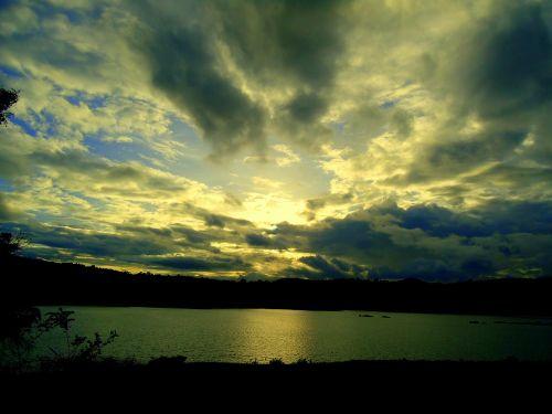 dusk sky clouds