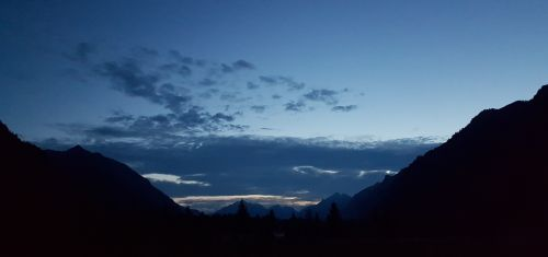 Dusk In The Mountains