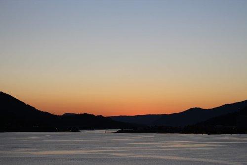 dusk sunset  sky  sunset