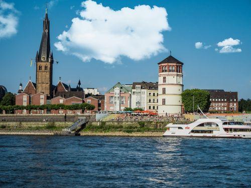 düsseldorf castle tower rhine