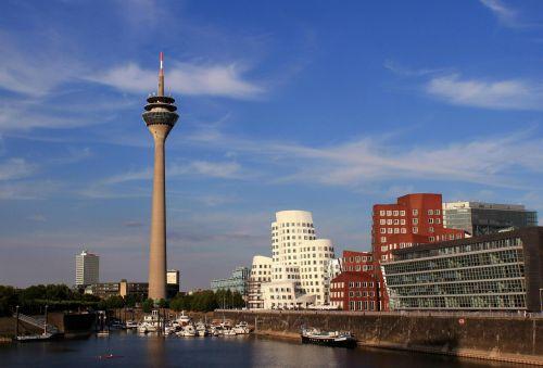 düsseldorf media harbour rhine