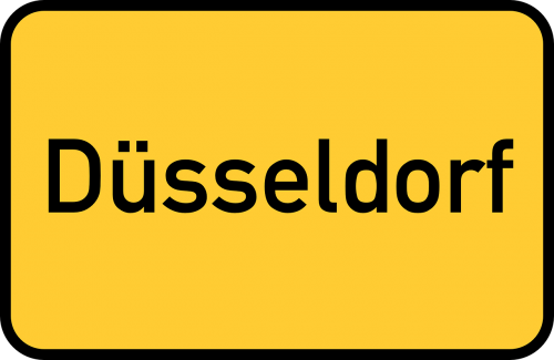 düsseldorf town sign city limits sign