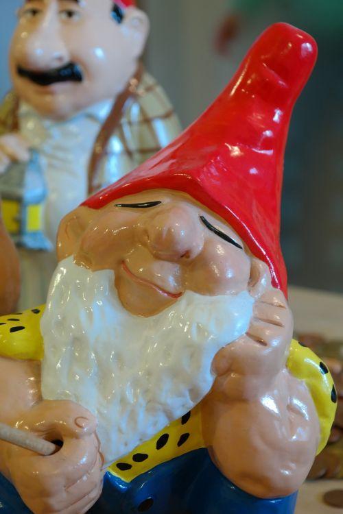 dwarf garden gnome figure