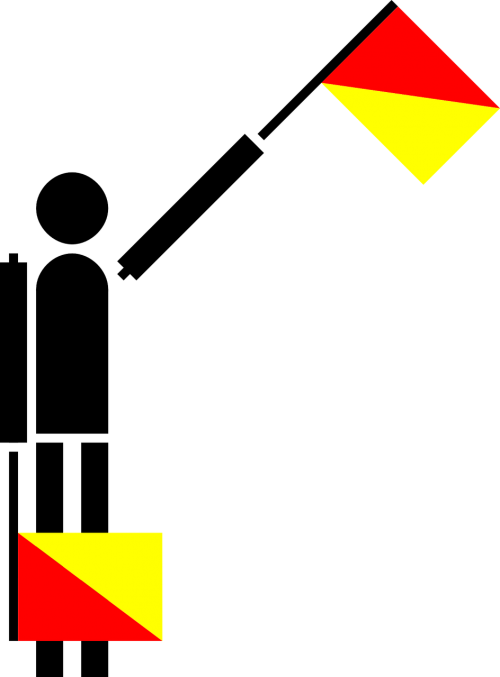 e or 5 flag semaphore