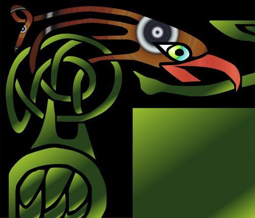 erelis, simbolis, piešimas, dažyti, spalvos, motyvas, erelio simbolis