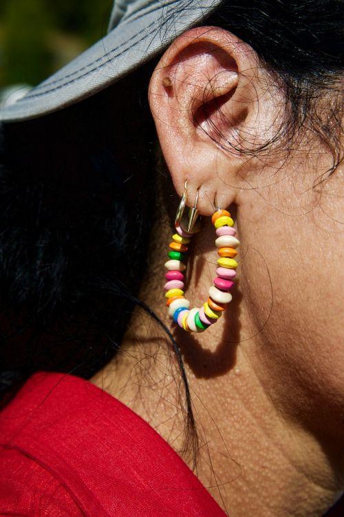 ear earlobe earrings