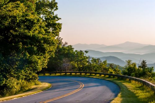 Early Morning Mountain Road