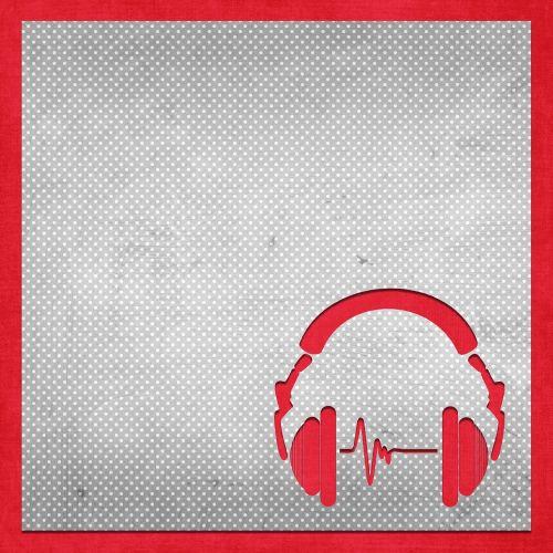 earphones background modern